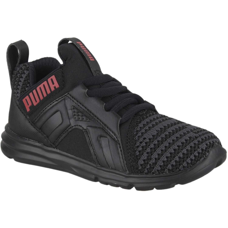 Puma enzo bold knit ac inf Negro / rojo Walking