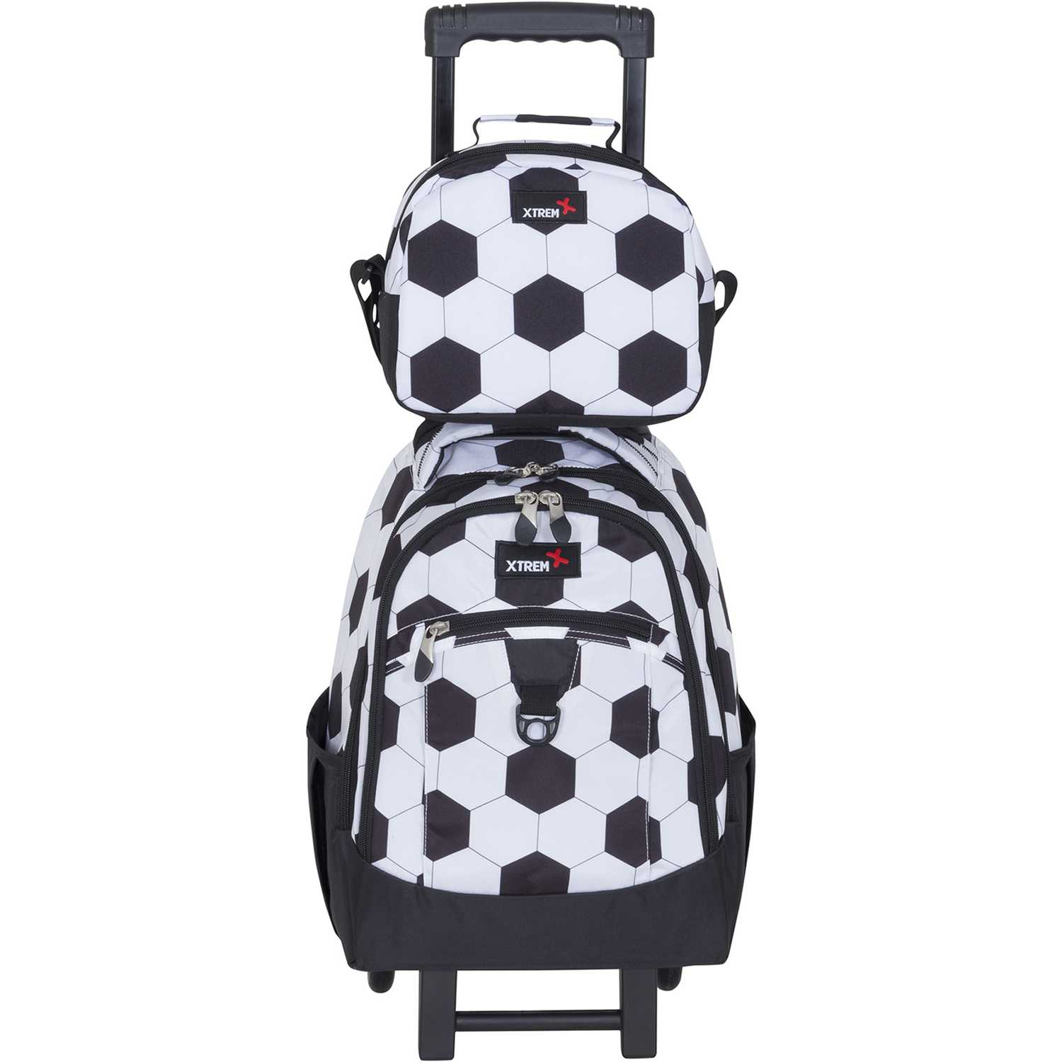 Xtrem backpack with wheels goal run 731 Blanco / negro Maletas para Niños