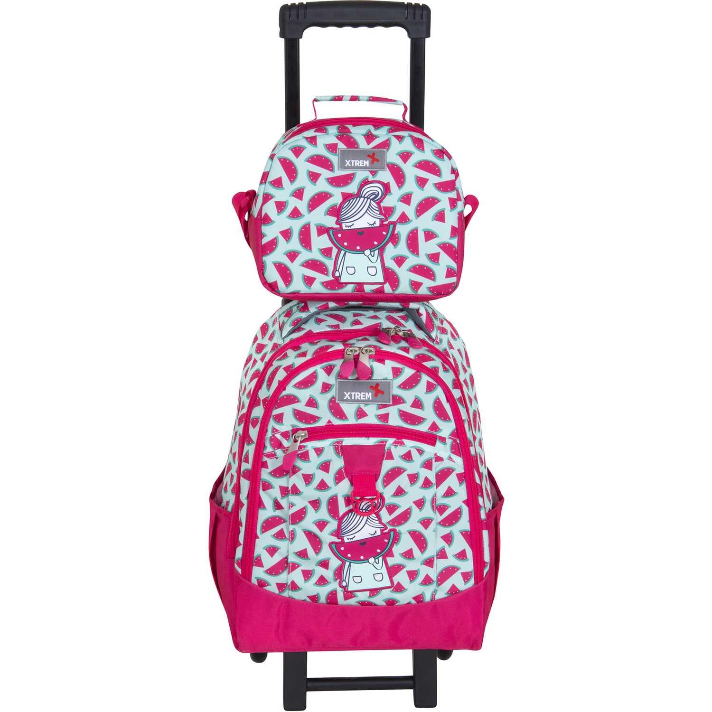 Mochila de Niña Xtrem Rosado backpack with wheels watermelon run 731