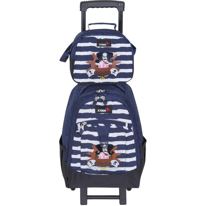 Xtrem backpack with wheels captain pirate run 731 Azul / blanco Maletas para Niños