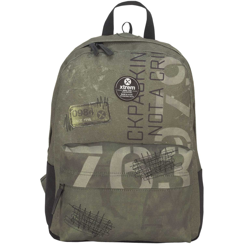 Mochila de Niño Xtrem Olivo backpack green patches bondy 810