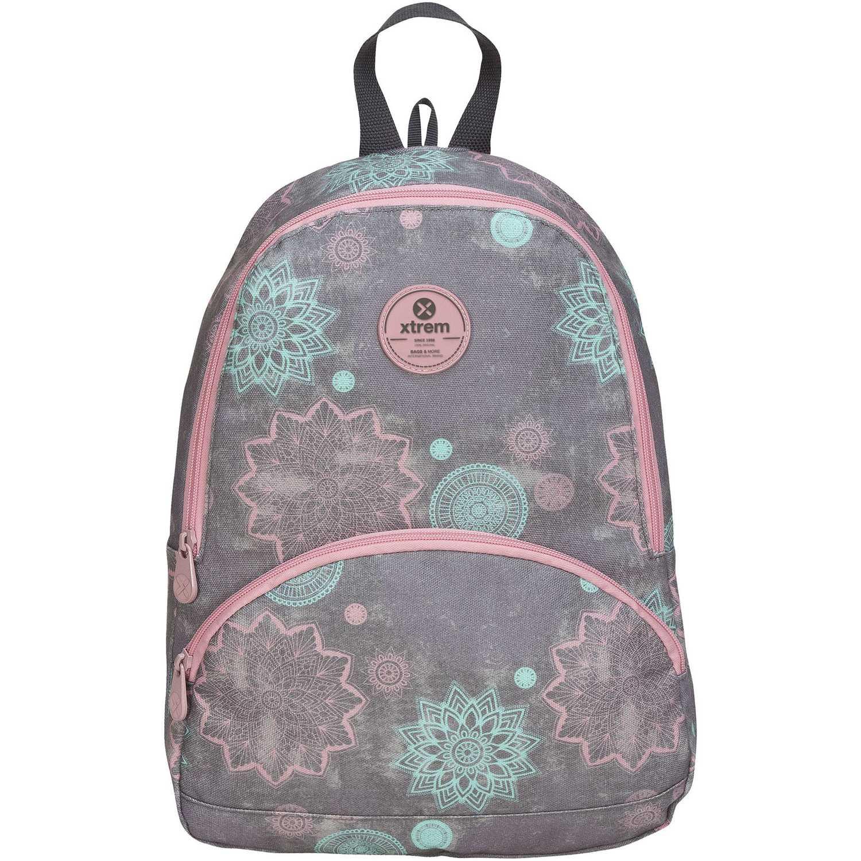 Xtrem backpack mandalas garden 812 Gris / rosado mochilas