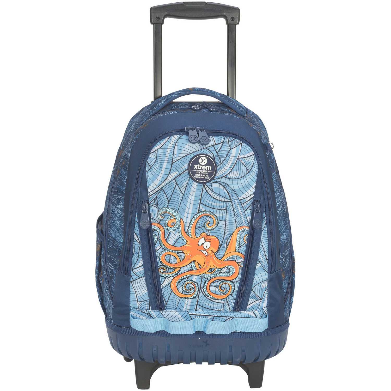 Mochilas de Niño Xtrem Azul backpack with wheels under the sea cross 830