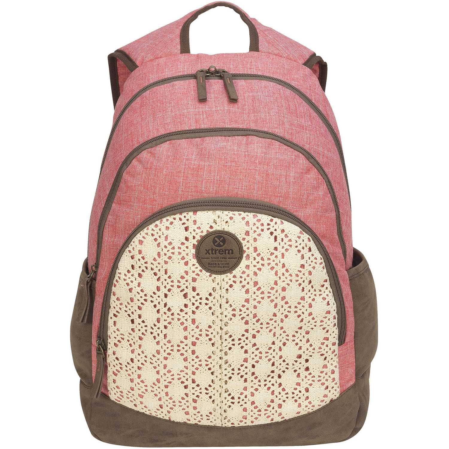 Xtrem backpack crochet love victory 814 Coral mochilas