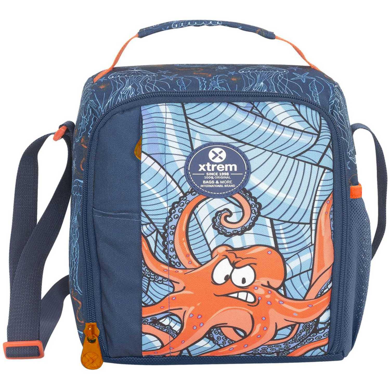 Lonchera de Niño Xtrem Azul / naranja lunch bag under the sea lunch 844