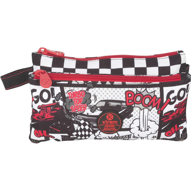 Cartuchera de Niño Xtrem Rojo / negro pencil box car race trinity 841