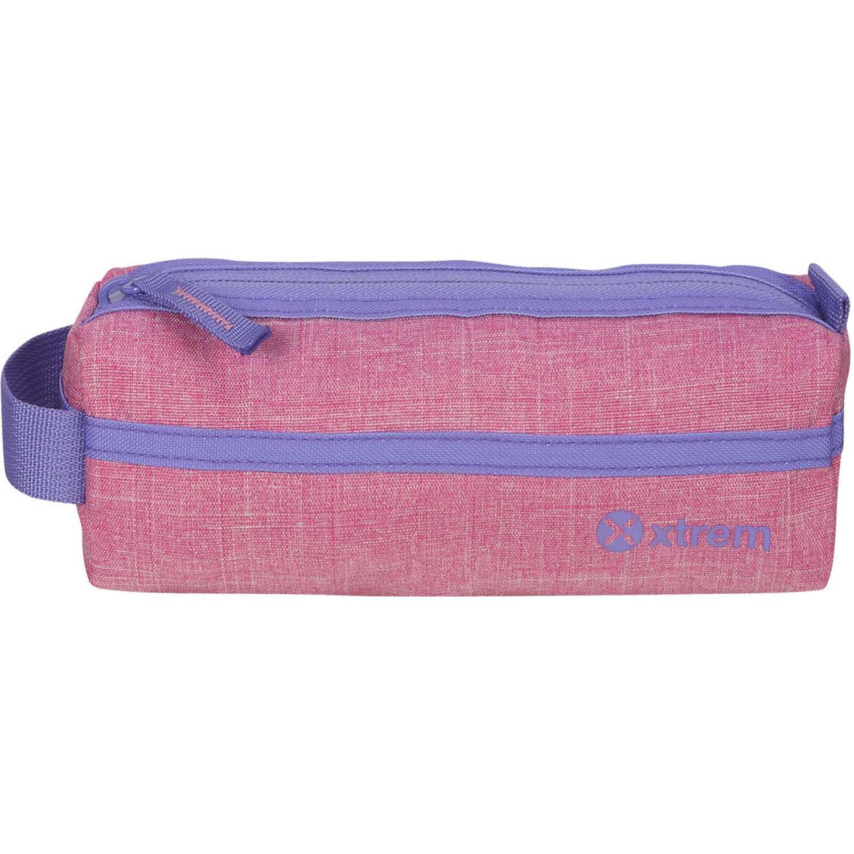 Cartuchera de Niña Xtrem Rosado/lila pencil box melange pink/violet school 842
