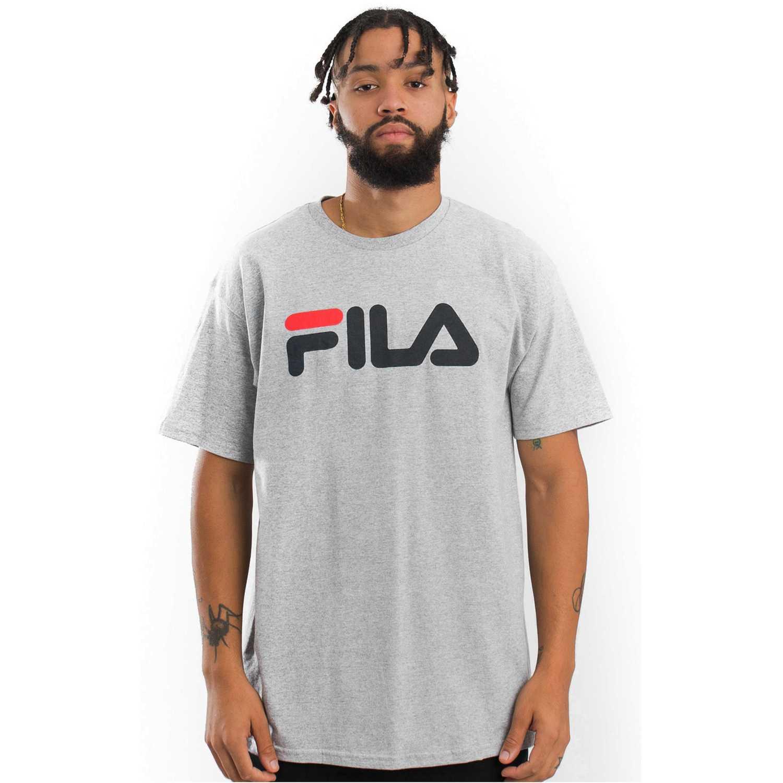 Fila men t-shirt letter Plomo / gris Camisetas y Polos Deportivos
