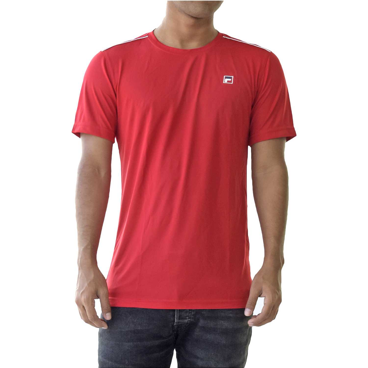 Fila men t-shirt aztec box Rojo