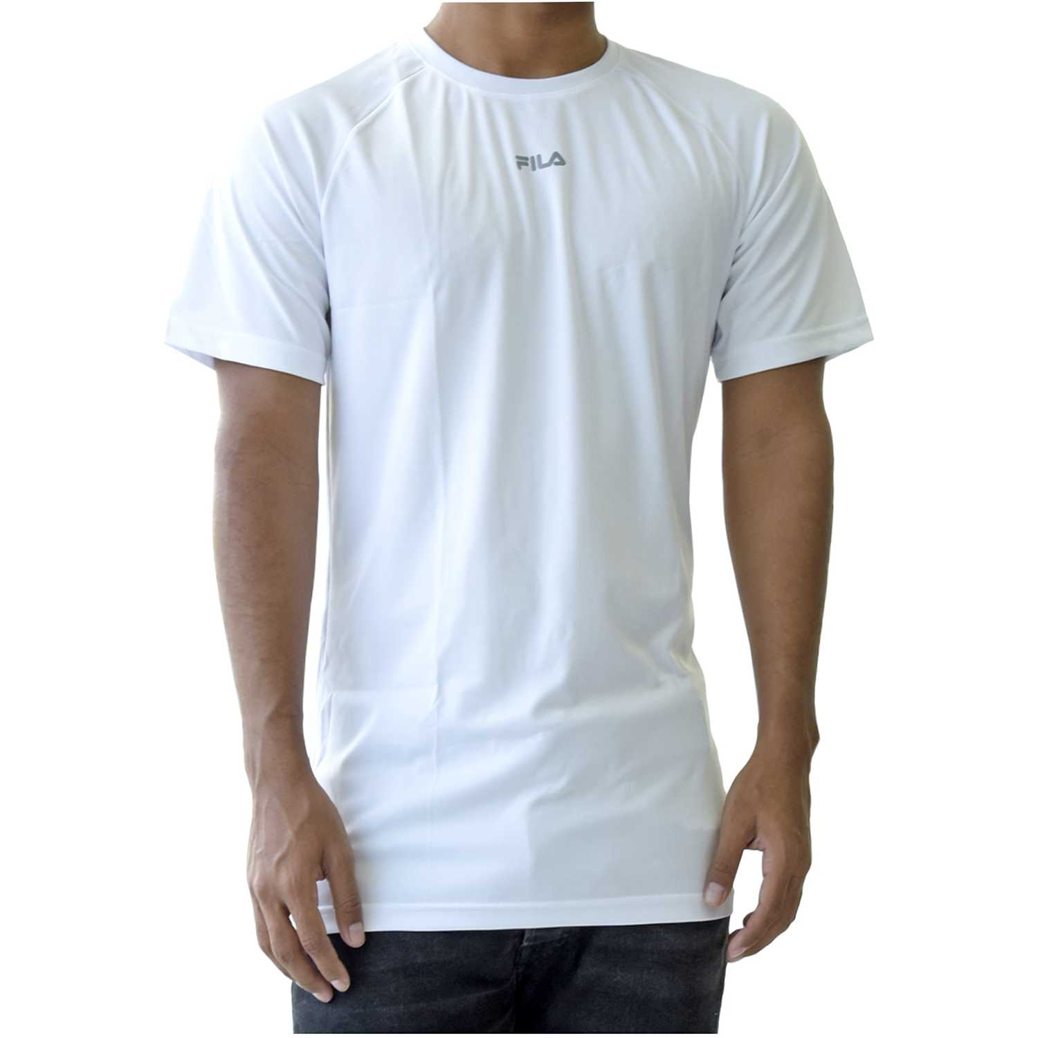 Fila men t-shirt basic train Blanco Camisetas y Polos Deportivos