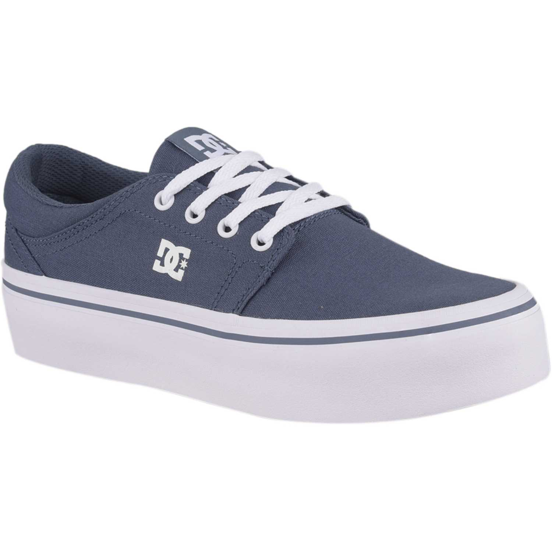 DC trase pltfrm tx Azul / blanco Walking