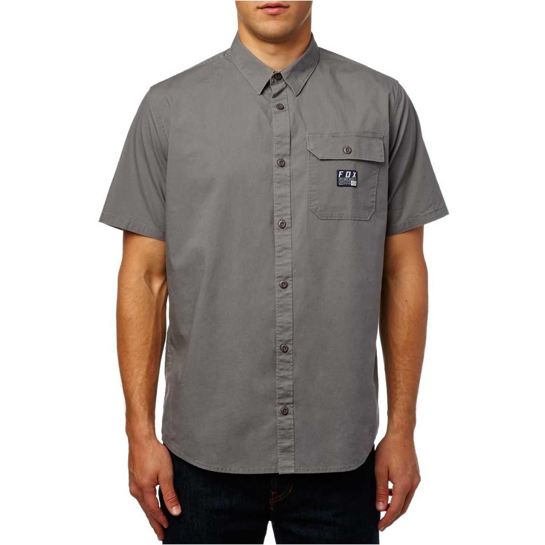 Fox brig ss woven Plomo Camisas de botones