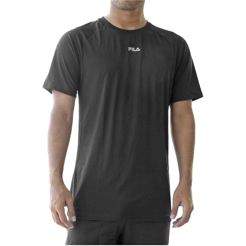 Fila men t-shirt basic train Negro Camisetas y Polos Deportivos