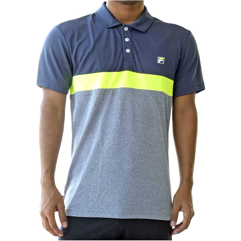 Fila men polo shirt block melange ii Plomo / gris Camisetas y Polos Deportivos