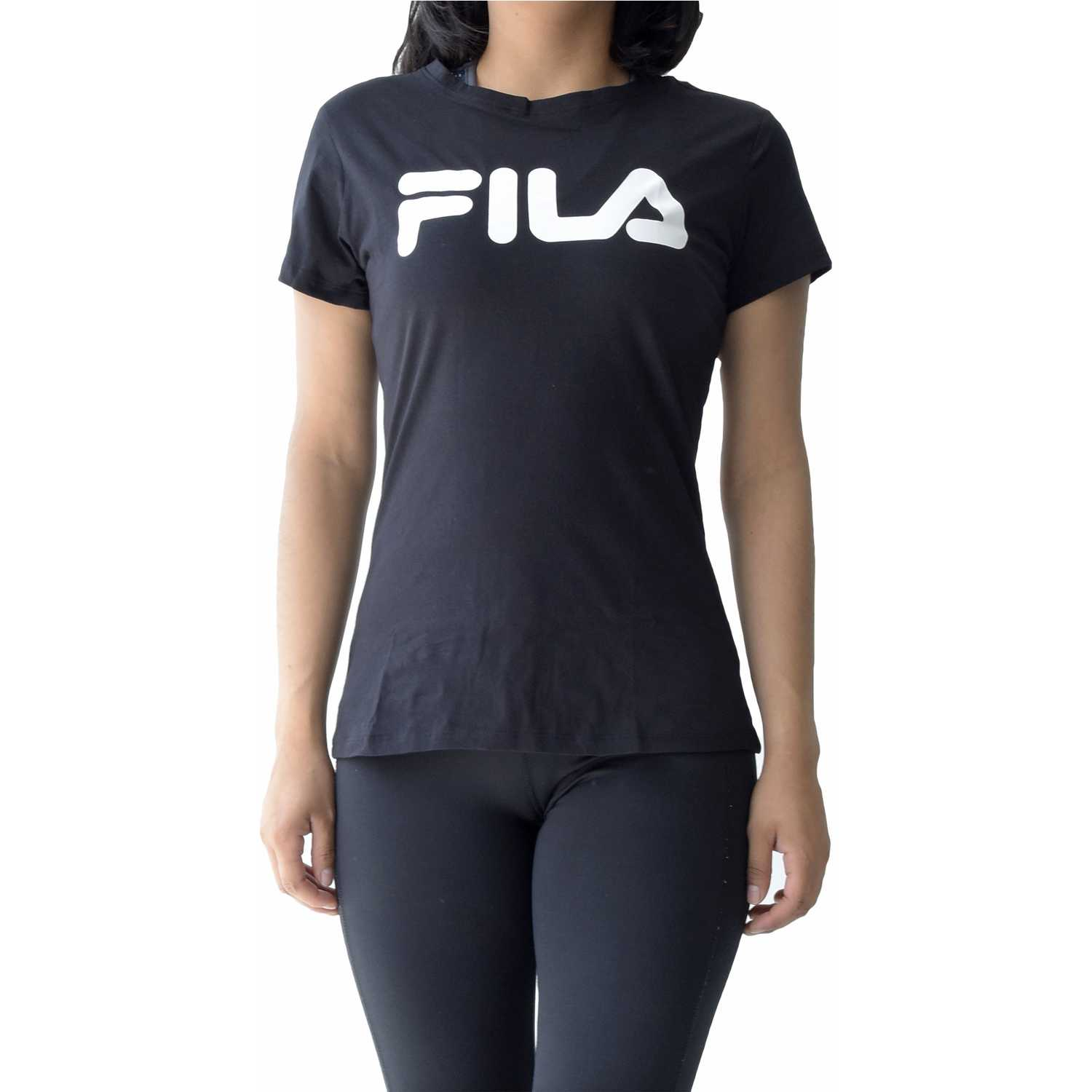Fila women t-shirt letter new Negro / blanco Polos
