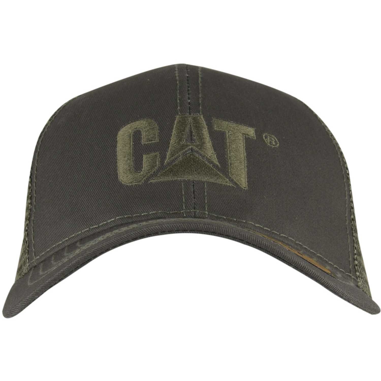 CAT raised logo cap Gris Gorros de Baseball