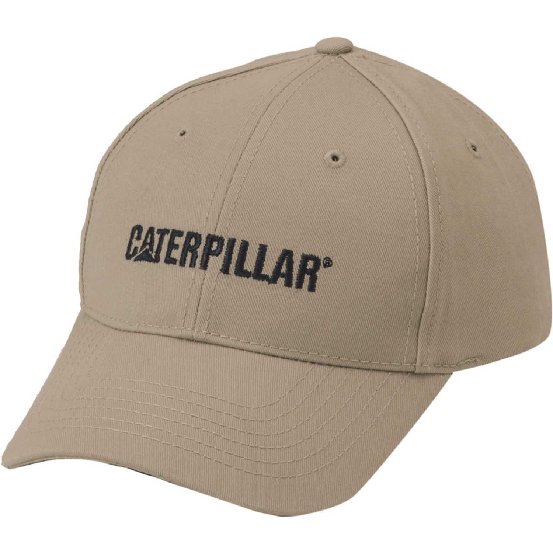 Gorros de Niña CAT Beige caterpillar logo hat