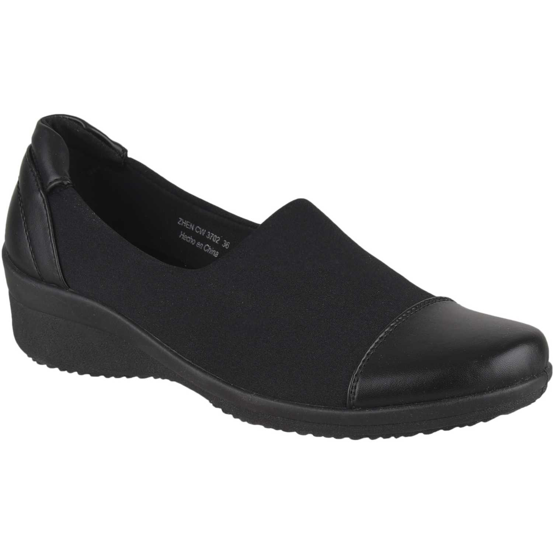 Calzado de Mujer Platanitos Negro cw 3702