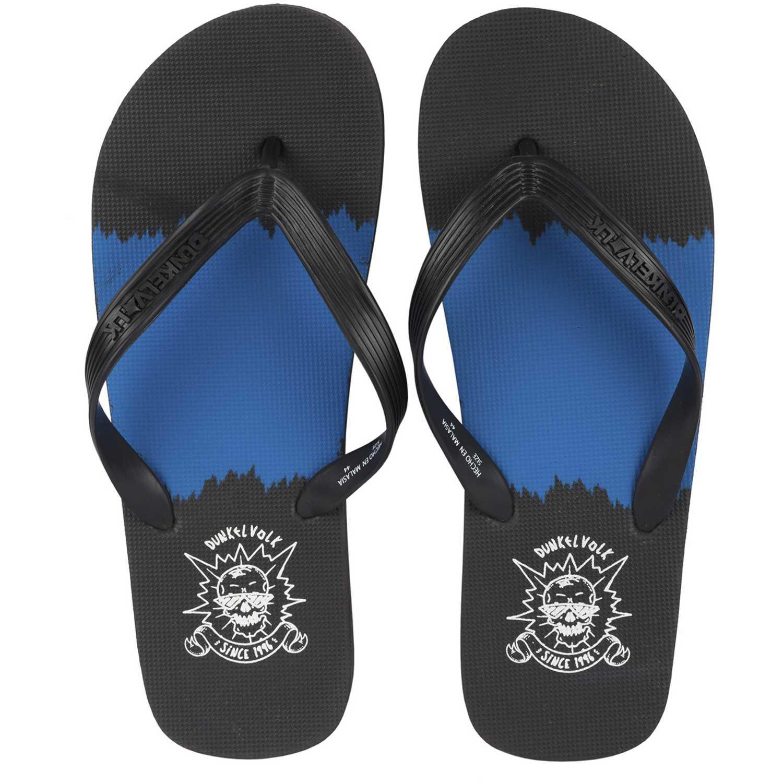 Dunkelvolk splash Negro / azul Sandalias deportivas y slides