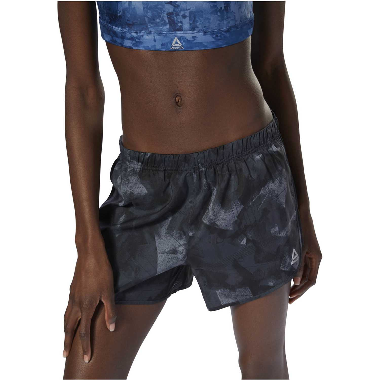 Reebok re 4in short print Negro Shorts Deportivos