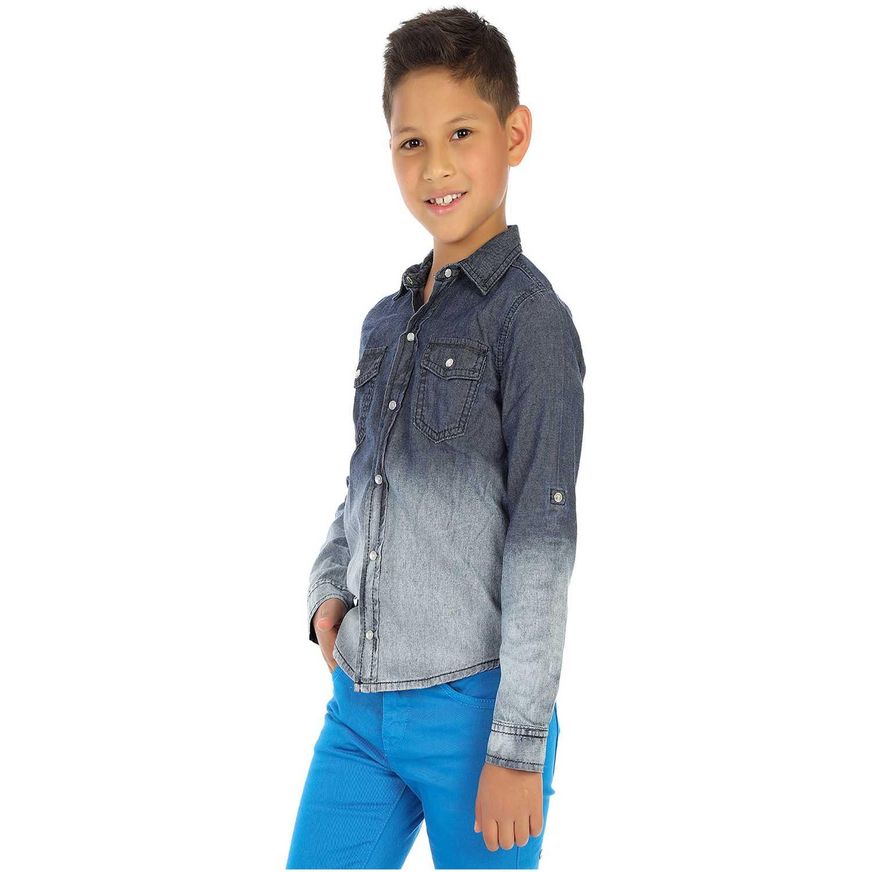 Camisa de Niño COTTONS JEANS Azul / blanco fabio