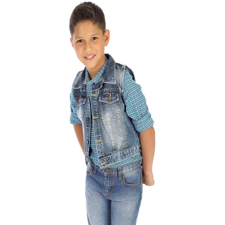 Chaleco de Niño COTTONS JEANS Azul / blanco valentín
