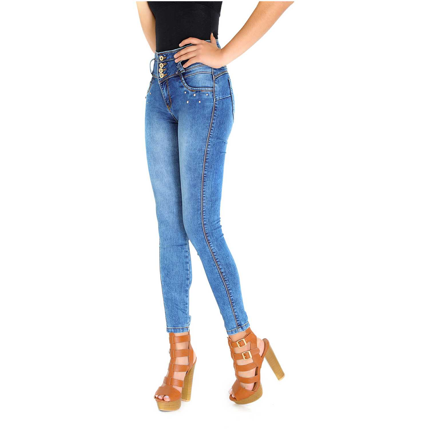 Casual de Mujer COTTONS JEANS Azul laura