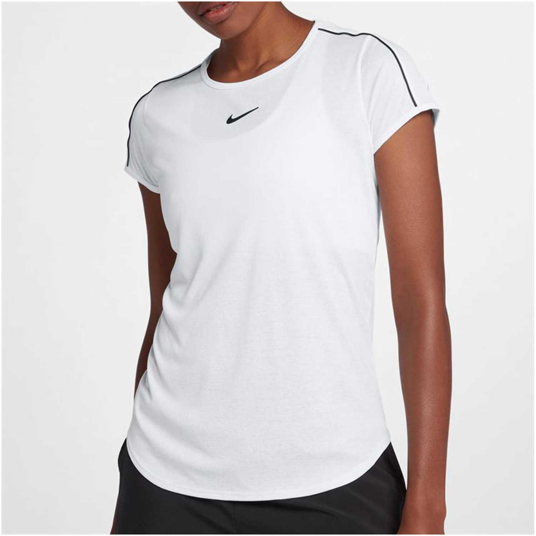 Camisetas de Mujer Nike Blanco / negro w nkct dry top