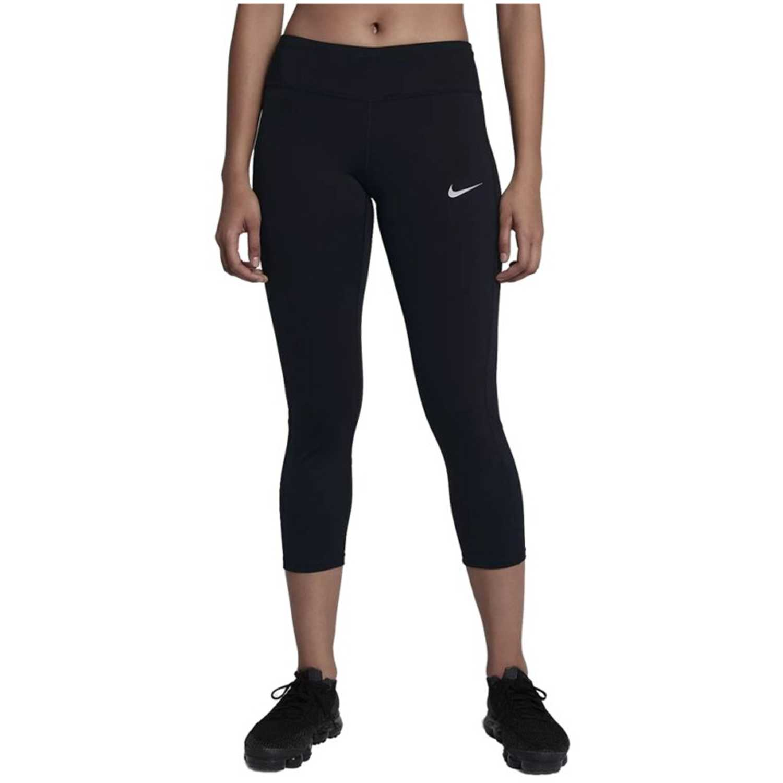 Nike w nk pwr crop racer Negro Leggings Deportivos