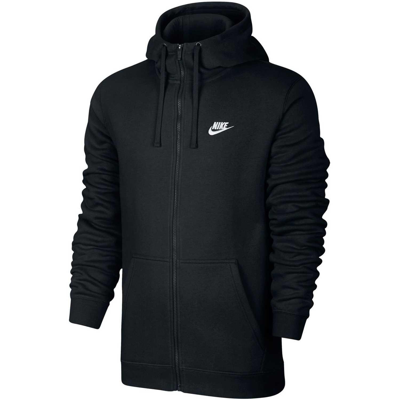 Deportivo de Niña Nike Negro / blanco m nsw club hoodie fz bb