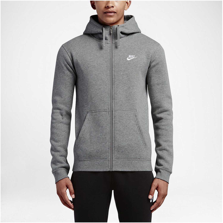 Nike m nsw club hoodie fz bb Gris Sweatshirts Deportivos