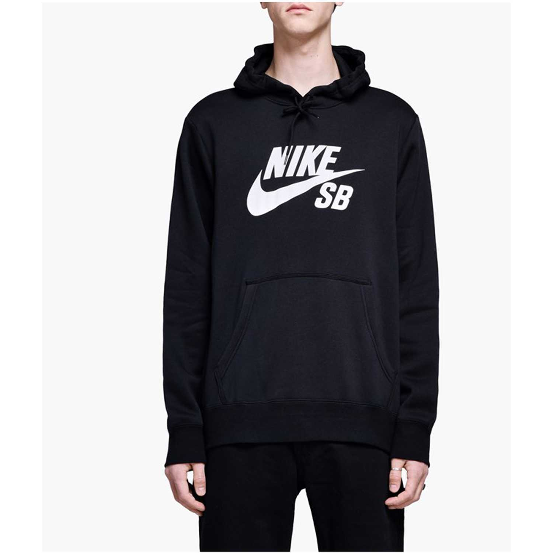 Nike M NK SB ICON HOODIE PO ESSNL Negro / blanco Hoodies Deportivos