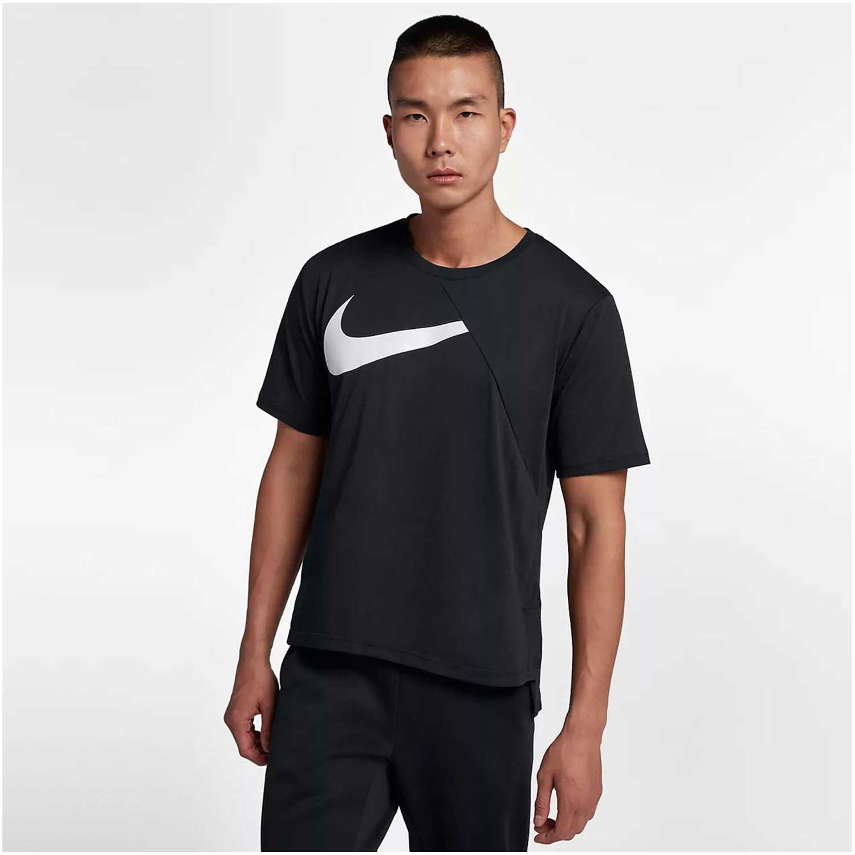 Nike m nk dry top ss px 3.0 Negro / blanco Polos