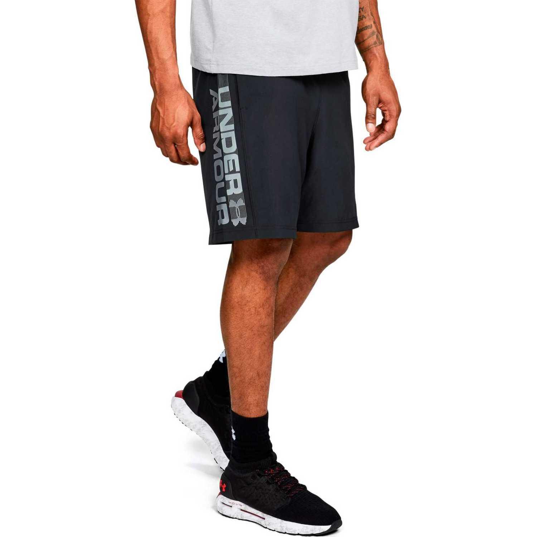 Under Armour Woven Graphic Wordmark Short-BLK NEGRO / GRIS Shorts Deportivos
