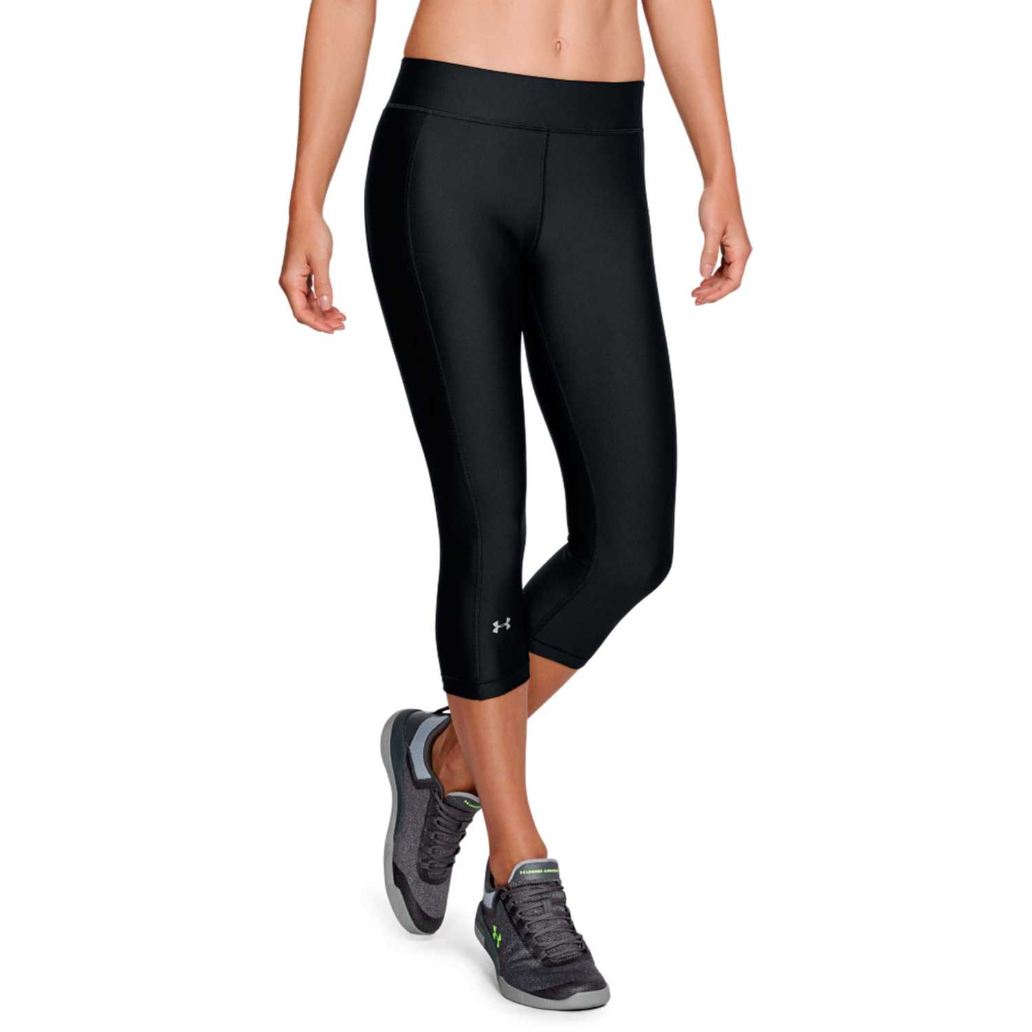 Under Armour Ua Hg Armour Capri Negro / blanco Leggings deportivos