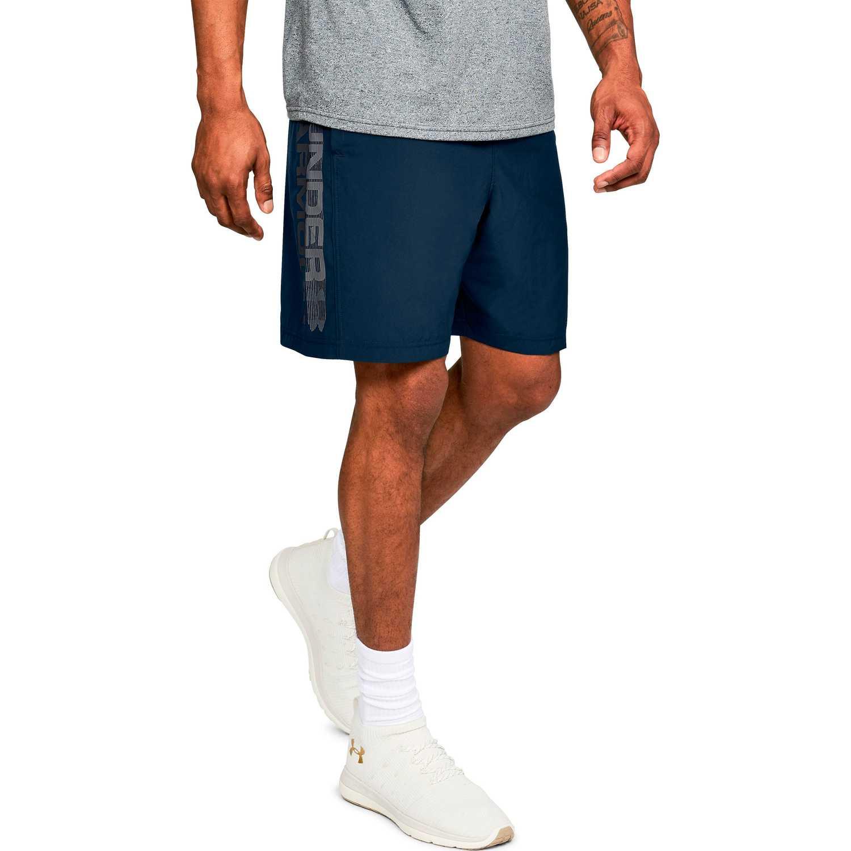 Under Armour woven graphic wordmark short Navy Shorts Deportivos