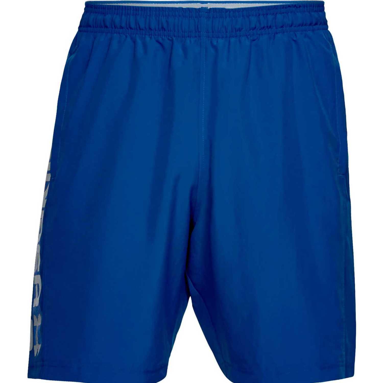 Under Armour woven graphic wordmark short Azulino Shorts Deportivos