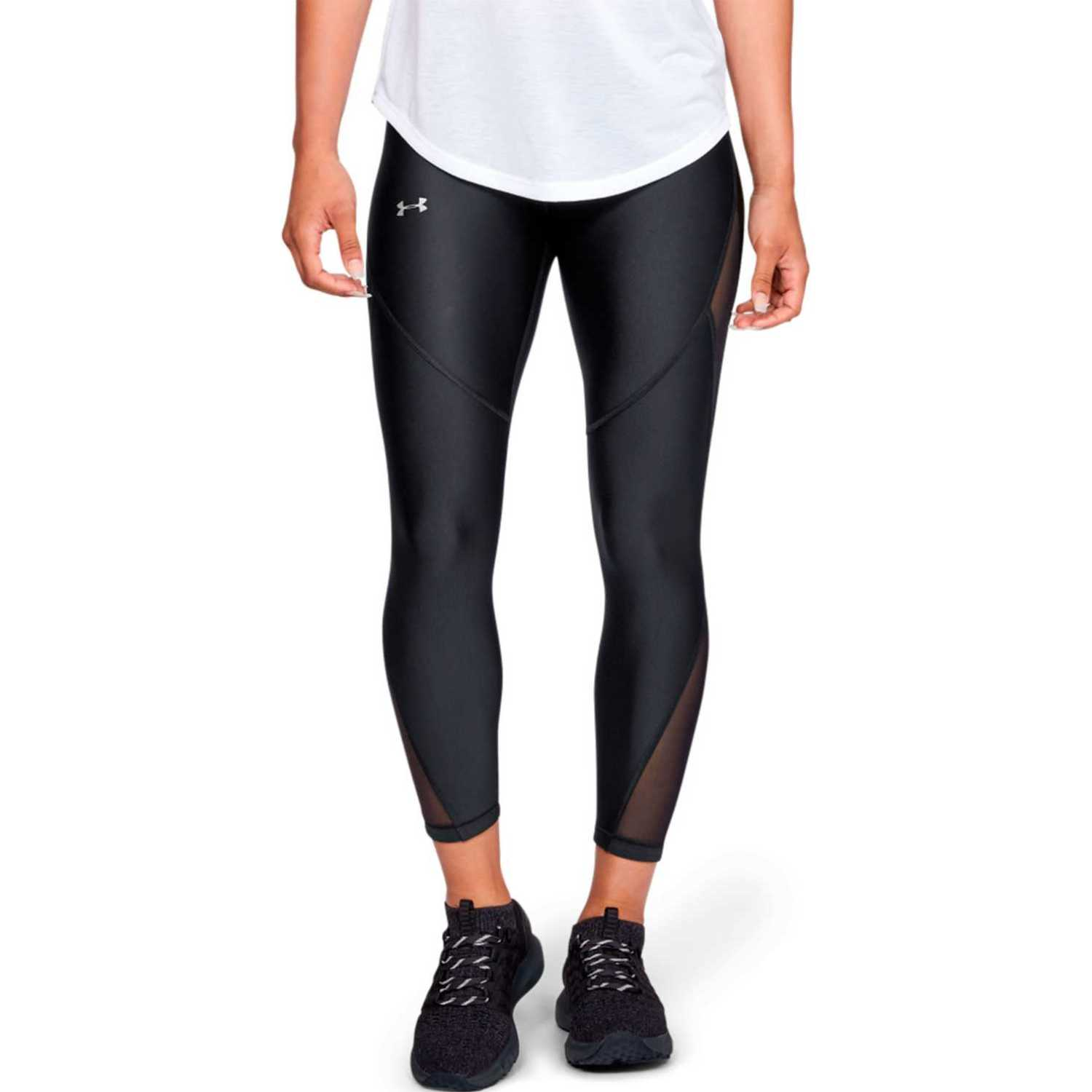 Under Armour Ua Hg Fashion Ankle Crop 7/1 NEGRO / GRIS Leggings Deportivos