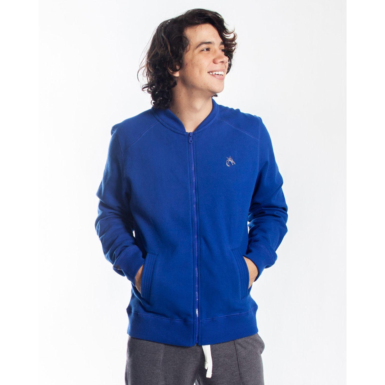Rising Dragon Casaca hombre Franela Azulino / gris Sweatshirts Deportivos