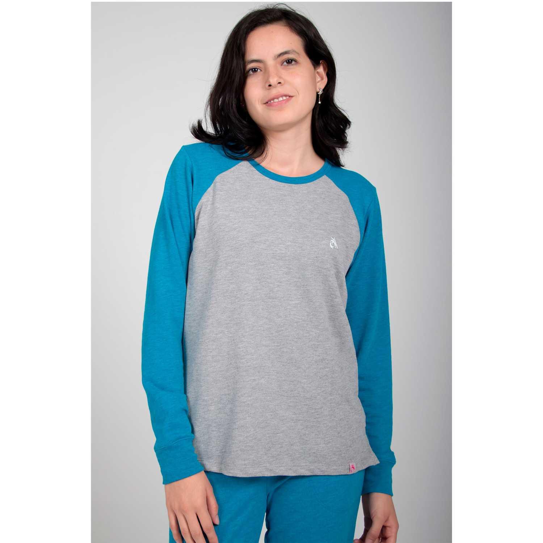 Rising Dragon polo cuello redondo french terry Cobalto Pijamas y Camisetas de Dormir