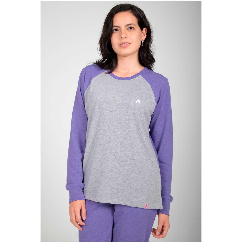 Rising Dragon polo cuello redondo french terry Lila Pijamas y Camisetas de Dormir