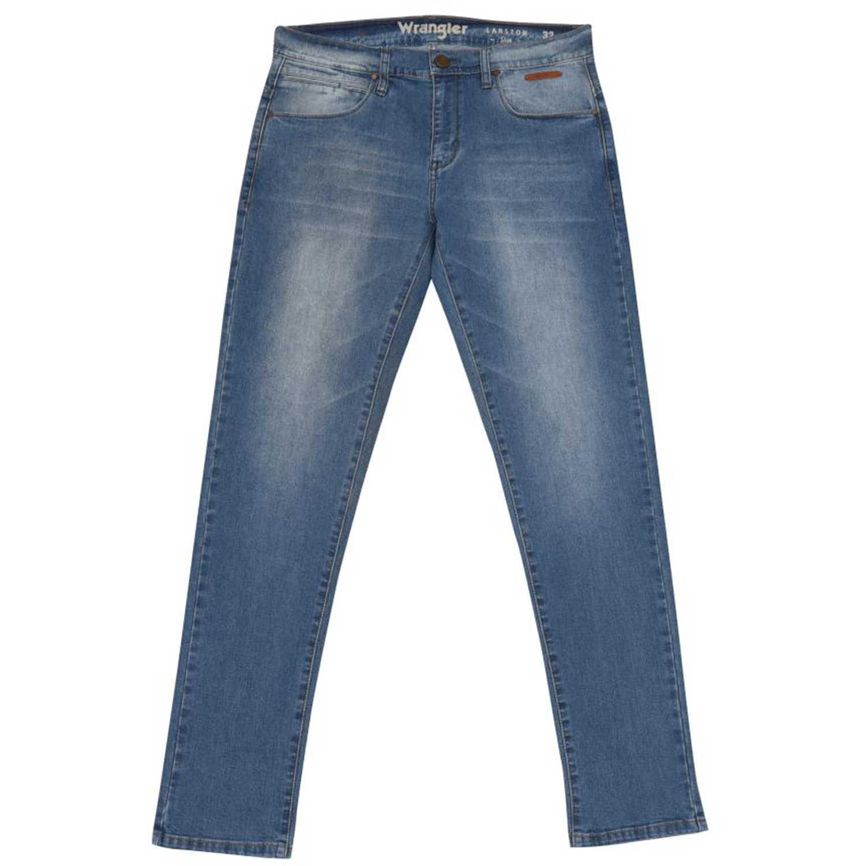 Wrangler larston retro Celeste / blanco Jeans
