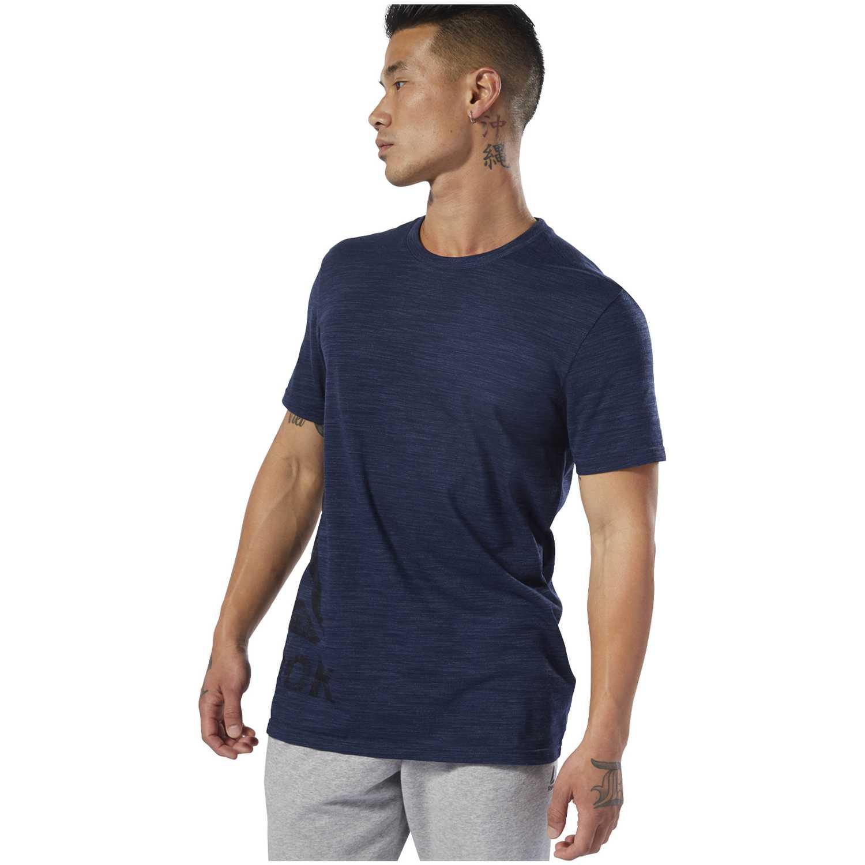 Reebok te marble group tee Azul Camisetas y Polos Deportivos