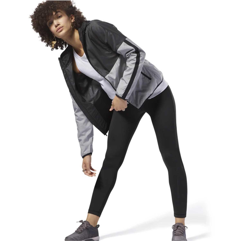 Buzo de Mujer Reebok Negro /gris te ts sport