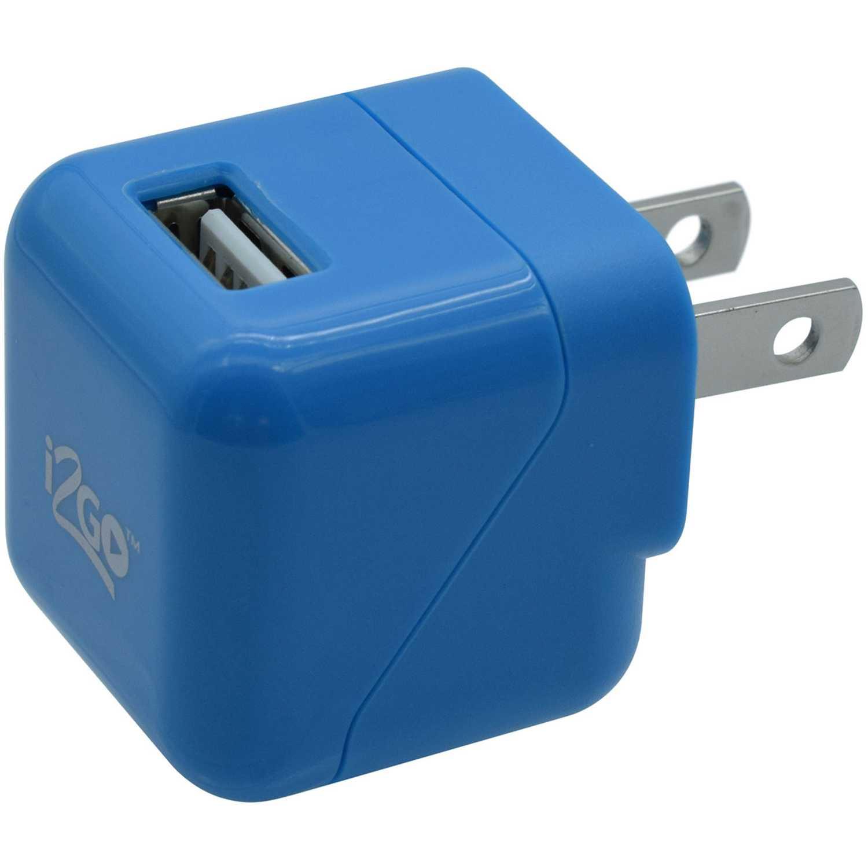 I2go Cargador Usb De Pared De 1.0a Azul Azul Cargadores de baterías de uso doméstico