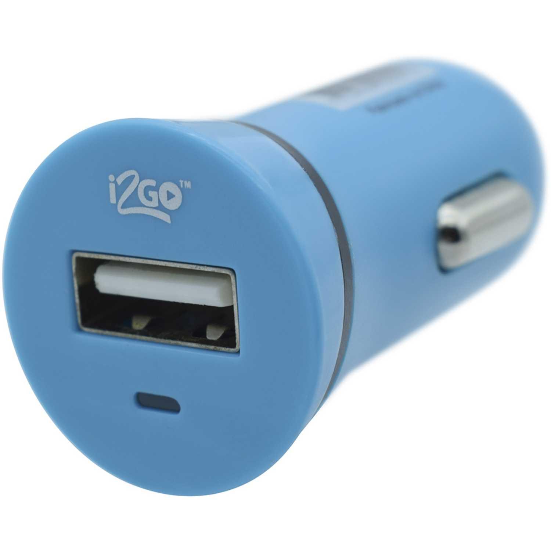 I2go cargador usb de carro  de 1.0 a  azul Azul cargadores de coche
