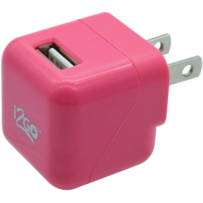 I2go cargador usb de pared de 1.0a rosado Rosado Cargadores de baterías de uso doméstico