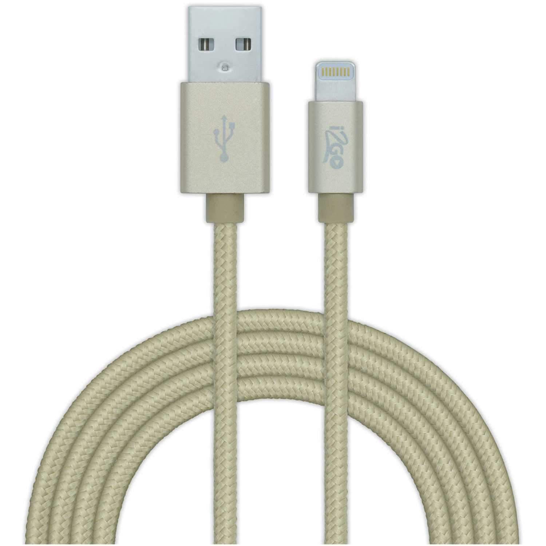 Cable lightning  I2go Pro Dorado cable ligthning mfi nylon 2mt dorado