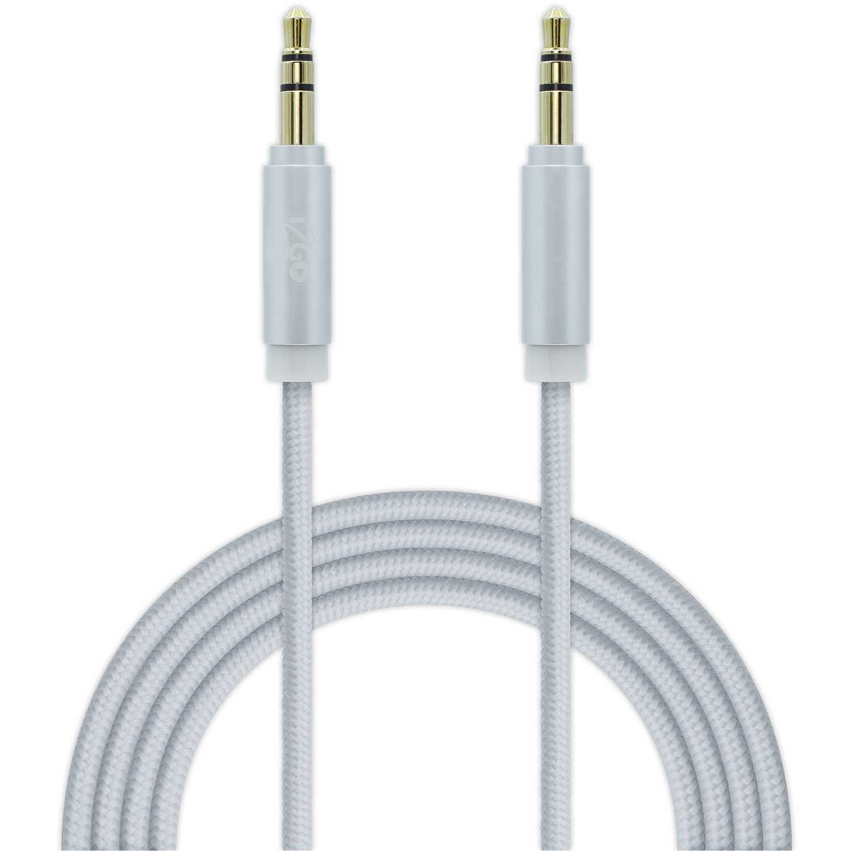 I2go Pro Cable Aux Nylon 1.5 Mt Plateado Plateado de uniones de cable