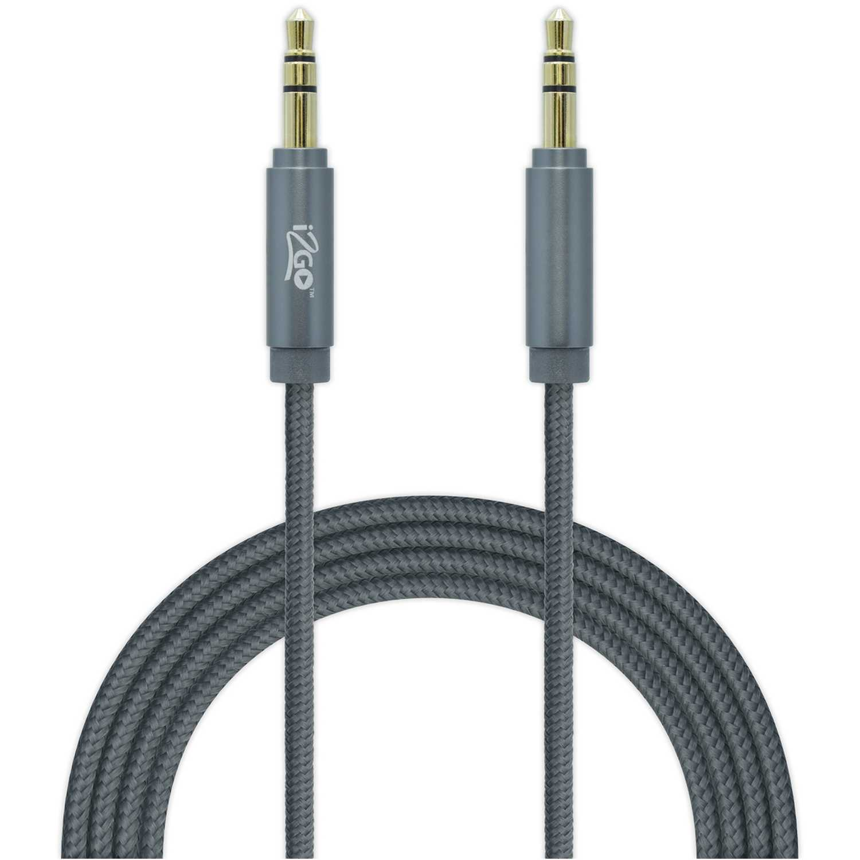 I2go Pro cable aux nylon 1.5 mt gris Gris de uniones de cable